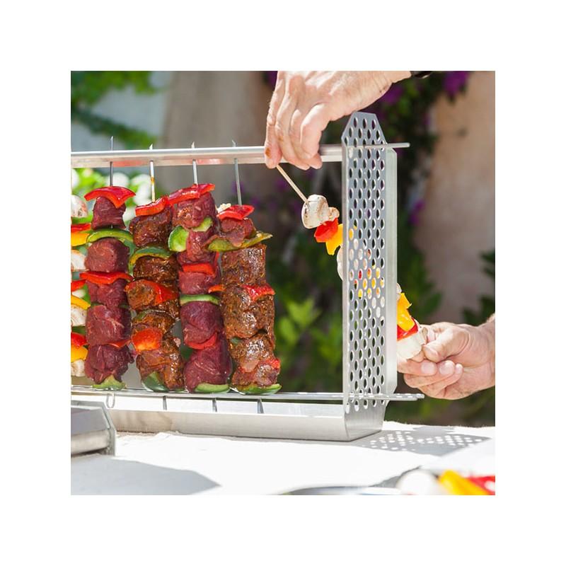 Barbecue vertical, bon pour la santé, utilisation facile, sans risque